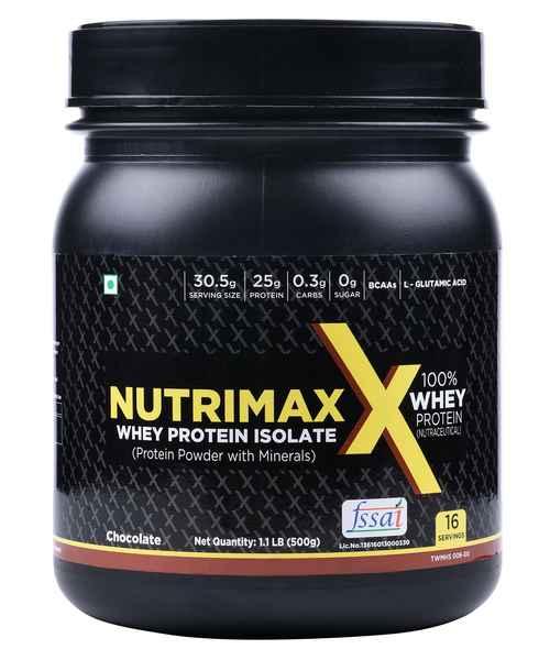 NUTRIMAXX WHEY PROTEIN ISOLATE 500GM CHOCOLATE
