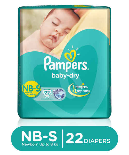 PAMPERS DIAPERS NB S 22S