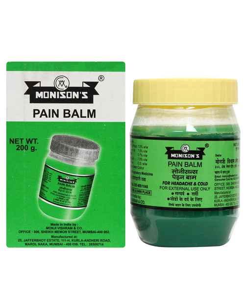 MONISONS PAIN BALM 200GM