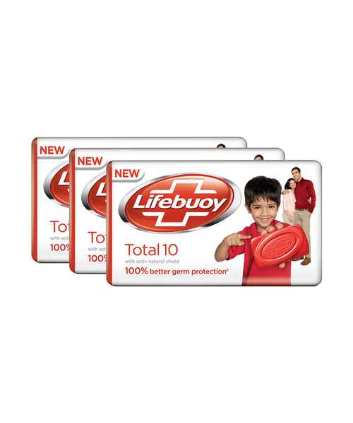 LIFEBOUY TOTAL 10 GERM PROTECTION SOAP BAR 3 x 100GM