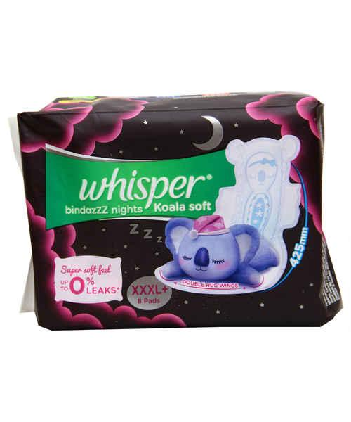 WHISPER BINDAZZ NIGHTS KOALA SOFT XXXL+ 8S