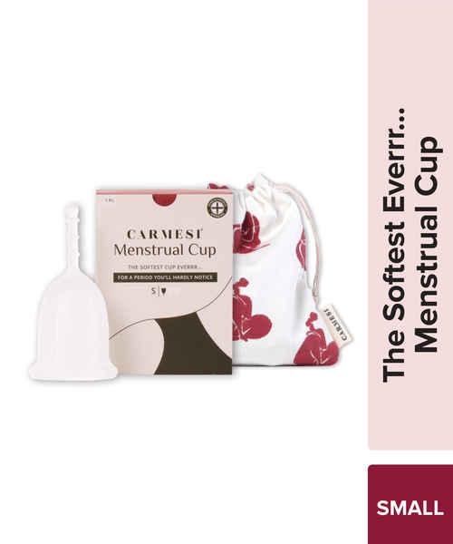 CARMESI REUSABLE MENSTRUAL CUP THE SOFTEST CUP EVERRR SMALL 1PEC 