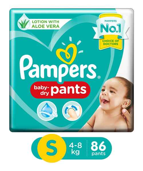 PAMPERS PANTS S 86