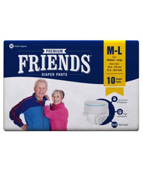 FRIENDS ADULT PANTS MEDIUM-LARGE 10'S