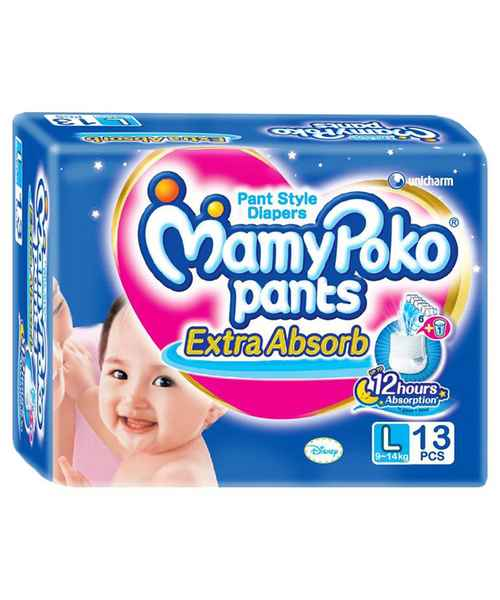 MAMYPOKO EXTRA ABSORB PANT STYLE DIAPERS - L 13S