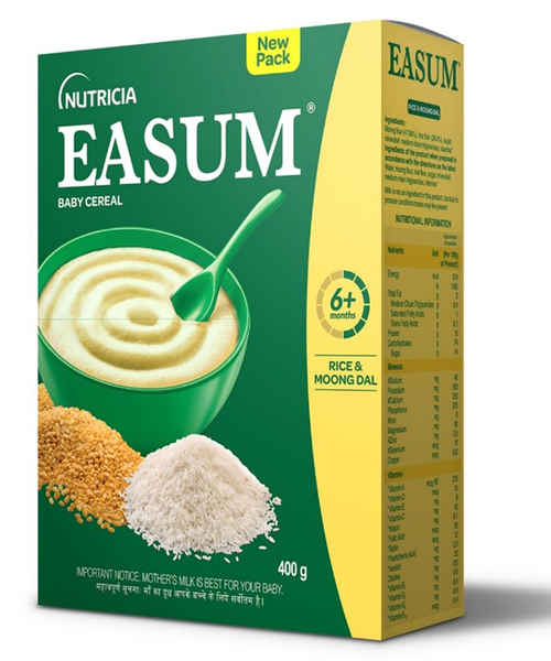 EASUM MILK-FREE BABY CEREAL RICE & MOONG DAL 400GM