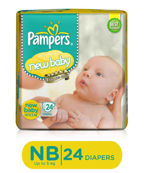 PAMPERS  NEW BABY 24S DIAPERS