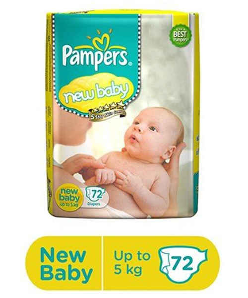 PAMPERS NEW BABY DIAPER 72S