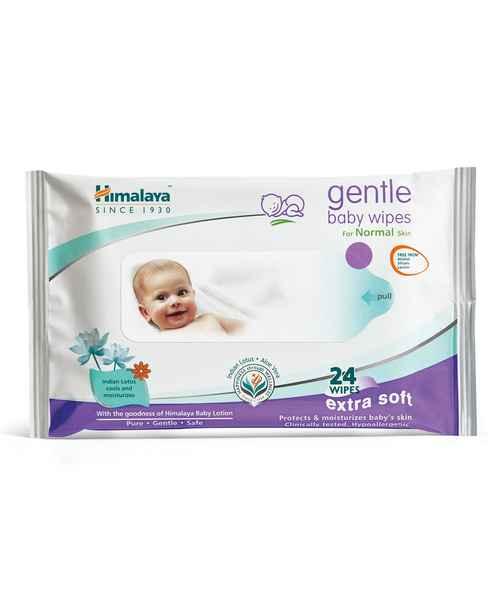 HIMALAYA GENTLE BABY  WIPES 24S