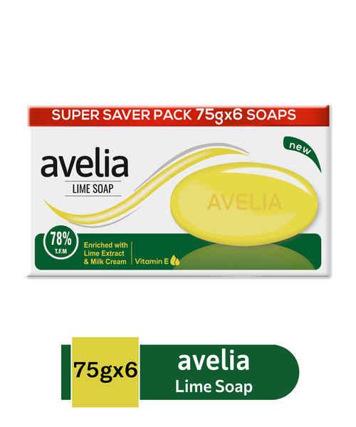 AVELIA LIME 6 X 75GM SOAP