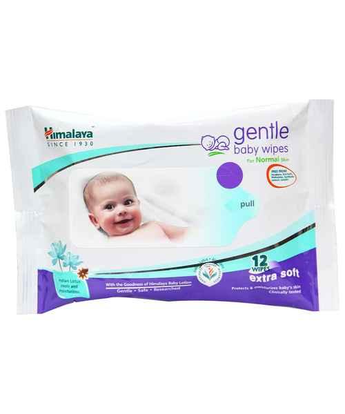 HIMALAYA GENTLE BABY WIPES 12S