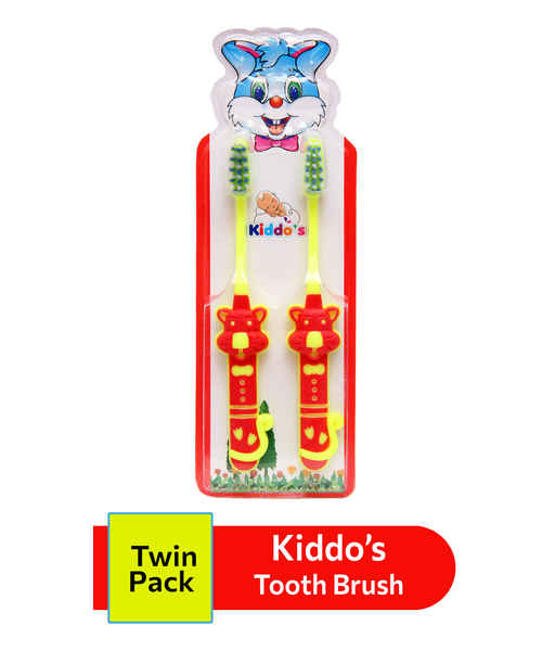 KIDDOS TOOTH BRUSH TWIN PACK