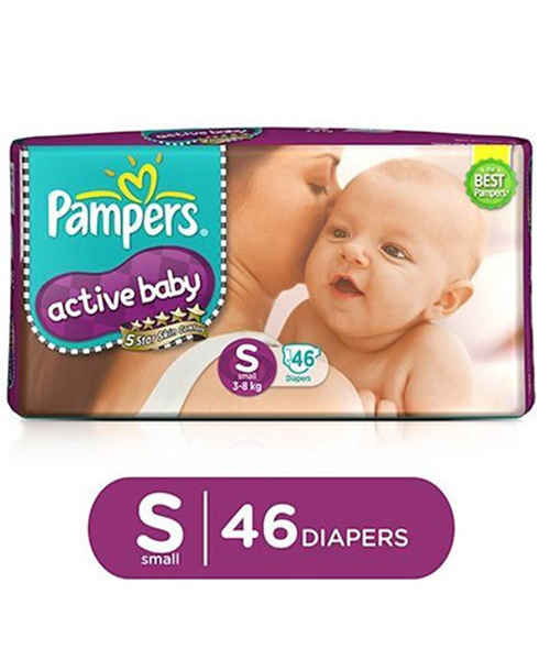 PAMPERS ACTIVE BABY S 46S