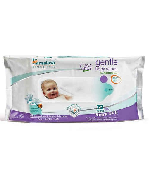 HIMALAYA GENTLE BABY WIPES 72S