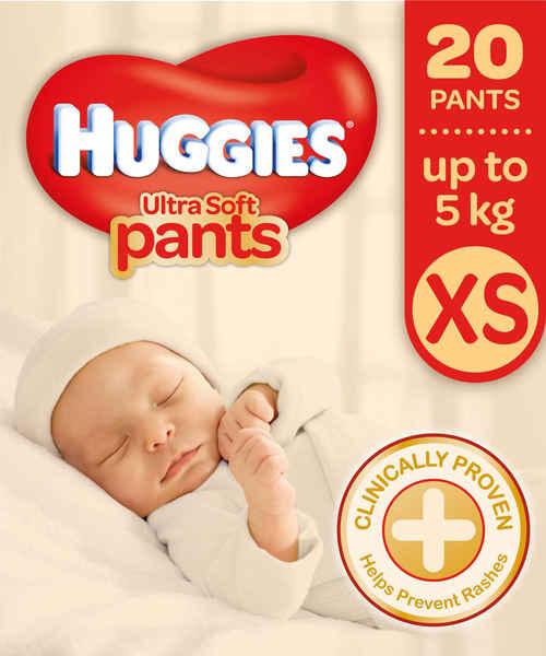 HUGGIES NEW BABY ULTRA SOFT PANTS - XS 20S