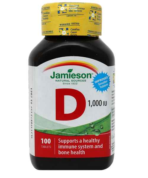 JAMIESON VITAMIN D3 1000IU 100S TAB