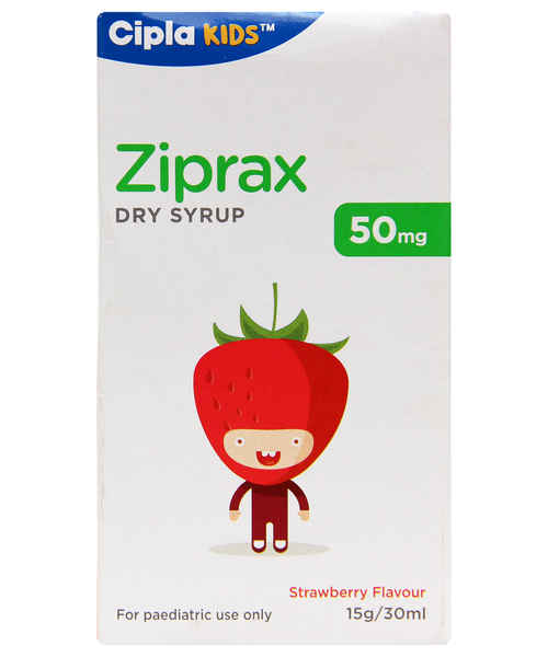 ZIPRAX 50MG DRY SYP