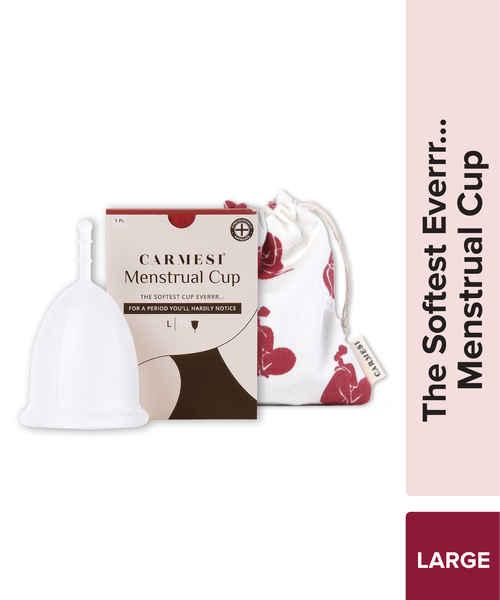 CARMESI REUSABLE MENSTRUAL CUP THE SOFTEST CUP EVERRR LARGE 1PEC