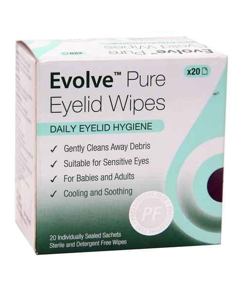 EVOLVE PURE EYELID WIPES 20S