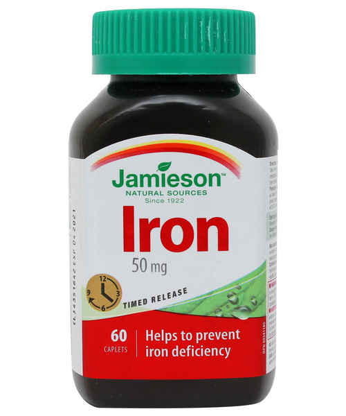 JAMIESON IRON TIMED RELEASE 50 MG 60S CAP
