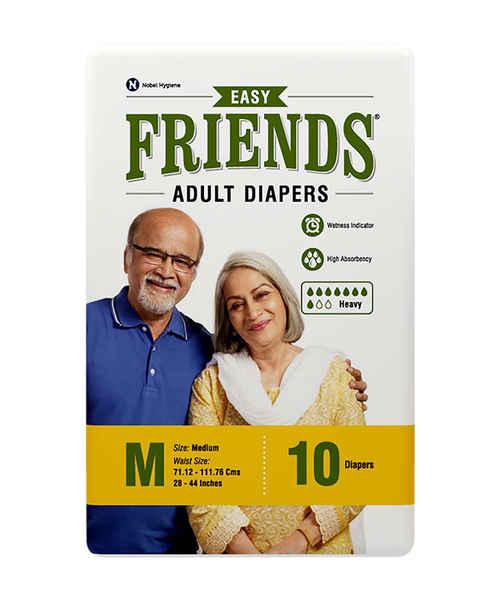 FRIENDS ADULT DIAPERS EASY MEDIUM 10's