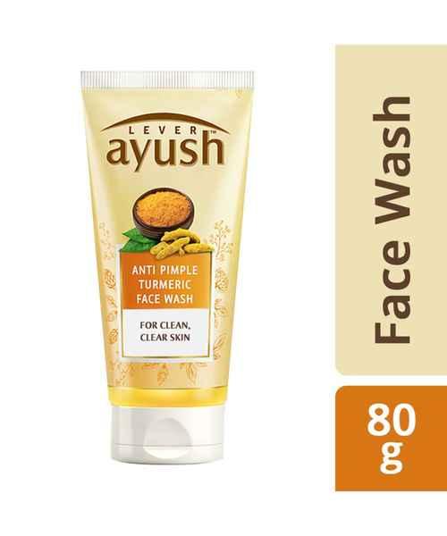 AYUSH ANTI PIMPLE TURMERIC FACE WASH 80 GM
